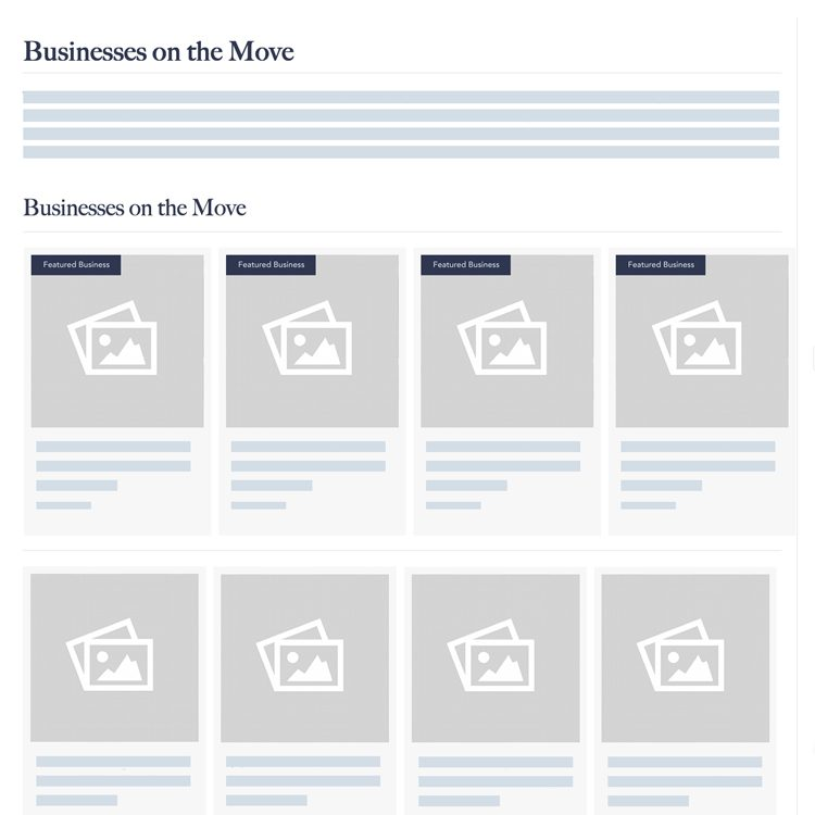 Businesses on the Move Page