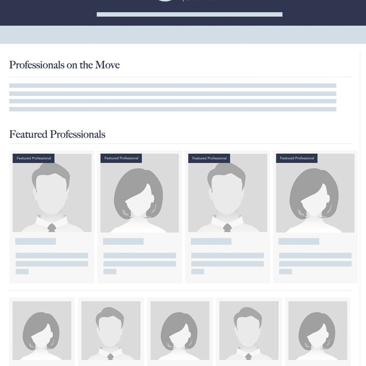 Professionals on the Move Page
